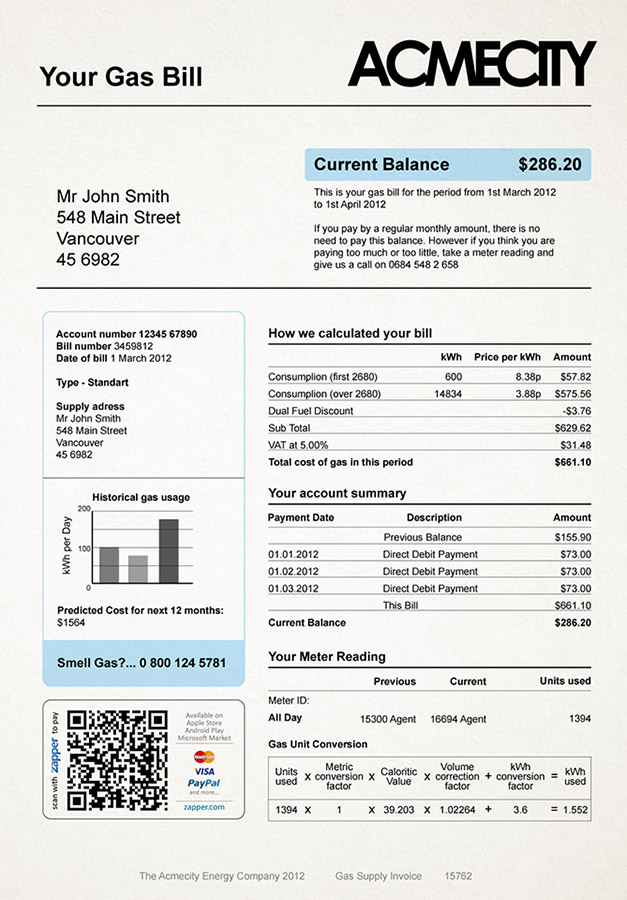 image of invoice template